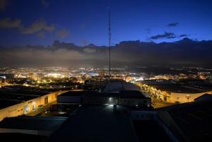 Hora azul urbana.